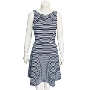 ELLE | Fit & Flare Dress Black Stripe Size Small